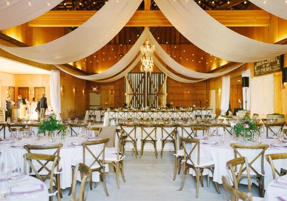 Paicines Ranch Event Barn interior